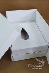 Cx Cenário P/ Ovo de Colher 350 ou 500  grs - CARTONAGEM