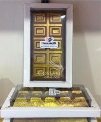 Cx. P/ Barra de Chocolate 300g - Tampa Transparente e Fundo