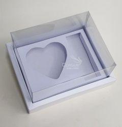 Cx. p/ 1 Coração de Colher 200 grs + 3 Bombons - Dobradura