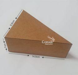 Cx. Fatia de Bolo C/ Berço - Kraft