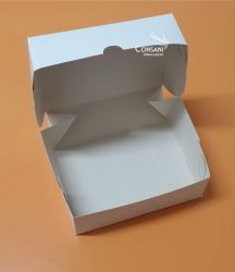 Cx. P/ Doces e Salgados (Ideal P/ 6 Doces) Branco