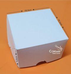 Cx. P/ Doces e Salgados (Ideal P/ 25 Doces) Branco