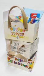 Cx. Sacola Cartonagem C/ Alça Sortida  (Mod. M) 22,0 x17,0 x 12,0 - Dia das Crianças