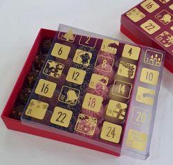 Caixa  P/ 25 bombons - Calendário Natal 18,0 x 18,0 x 4,0