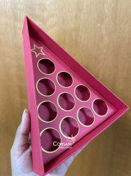 Cx. 10 bombons Triângulo - C/ Berço - Cartonagem